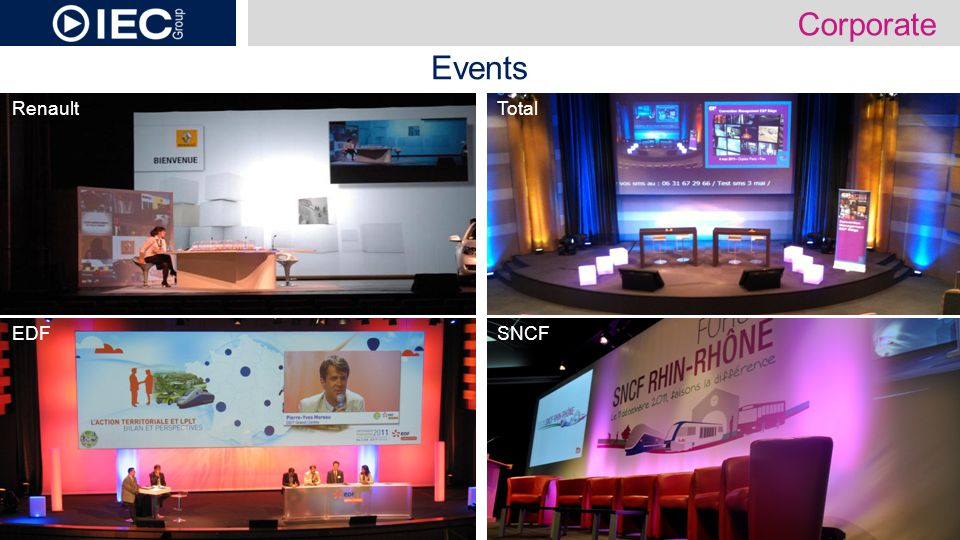 Events SNCF Corporate EDF TotalRenault
