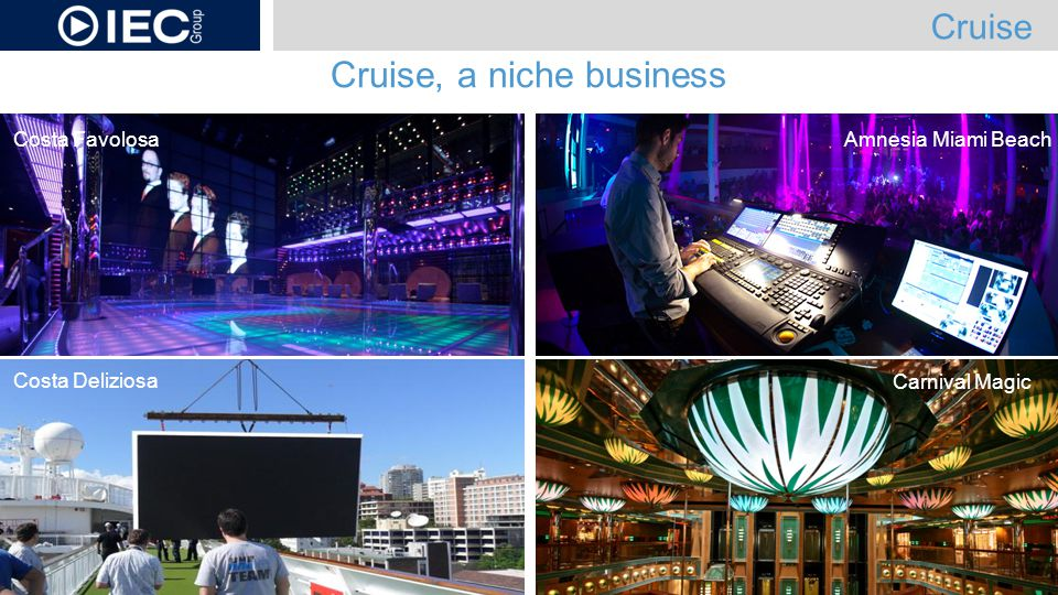 Cruise, a niche business Cruise Amnesia Miami BeachCosta Favolosa Costa Deliziosa Carnival Magic
