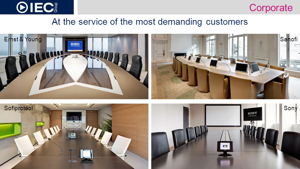 At the service of the most demanding customers Sony Ernst & Young Sofiprotéol Sanofi Corporate