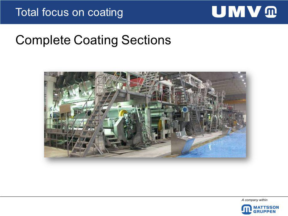 Total focus on coating Complete Coating Sections