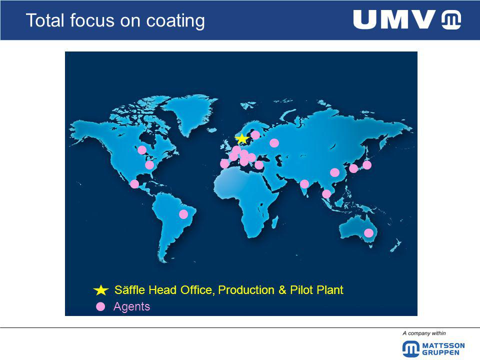 Total focus on coating Säffle Head Office, Production & Pilot Plant Agents
