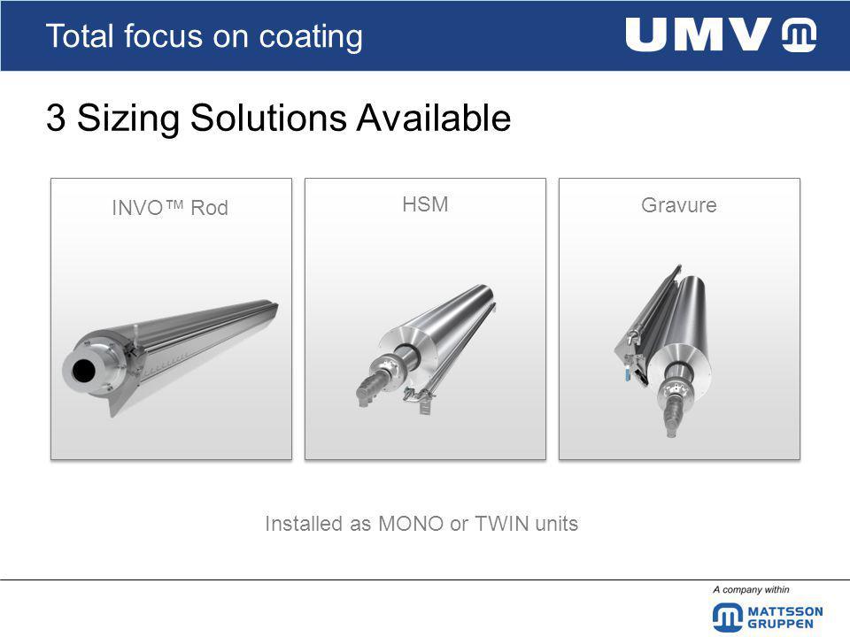 Total focus on coating TWIN Sizer Premetering alternatives - INVO® Rod - HSM - Gravure