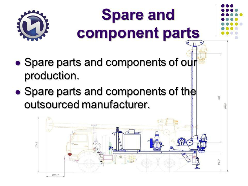 Spare and component parts Spare parts and components of our production.