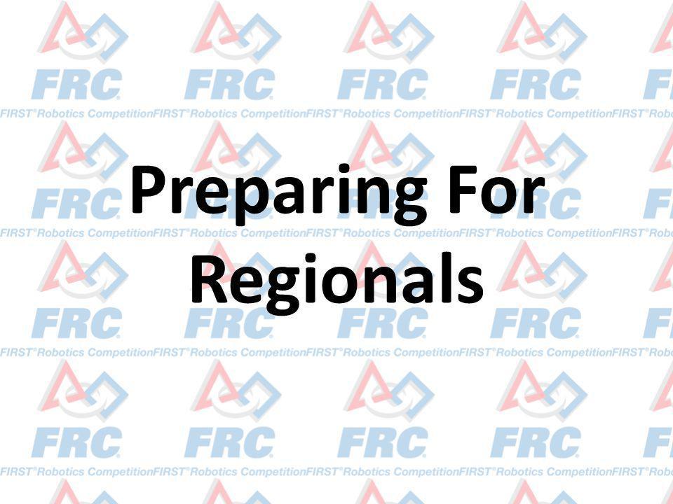 Preparing For Regionals