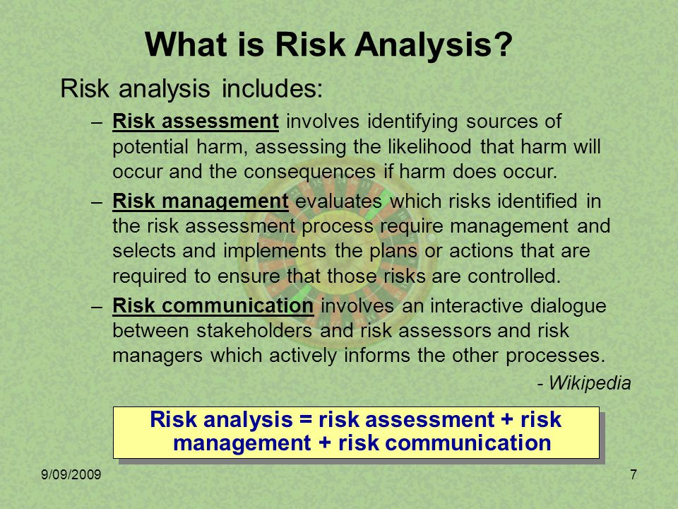 9/09/20098 Performance Risk –Technical risks, normally tracked using technical performance measures.