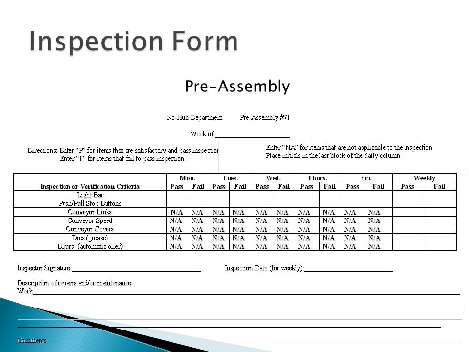 Pre-Assembly