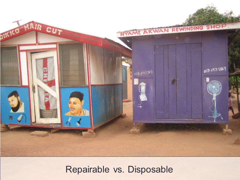 Repairable vs. Disposable