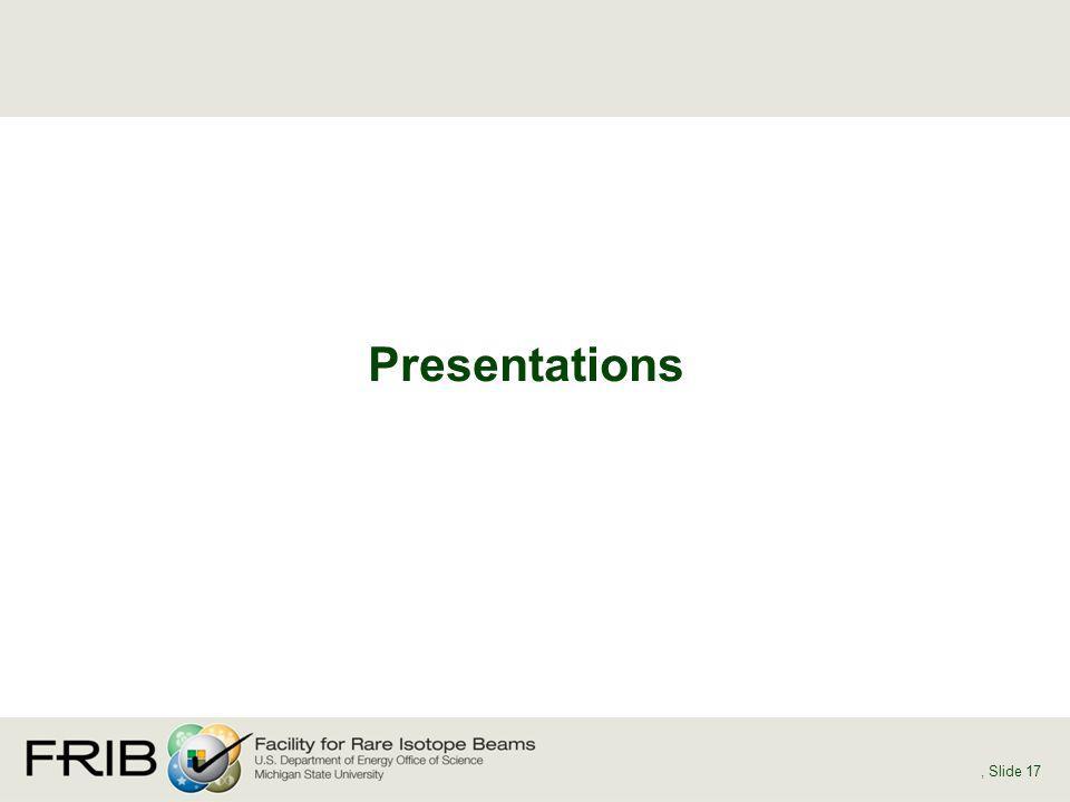 Presentations, Slide 17
