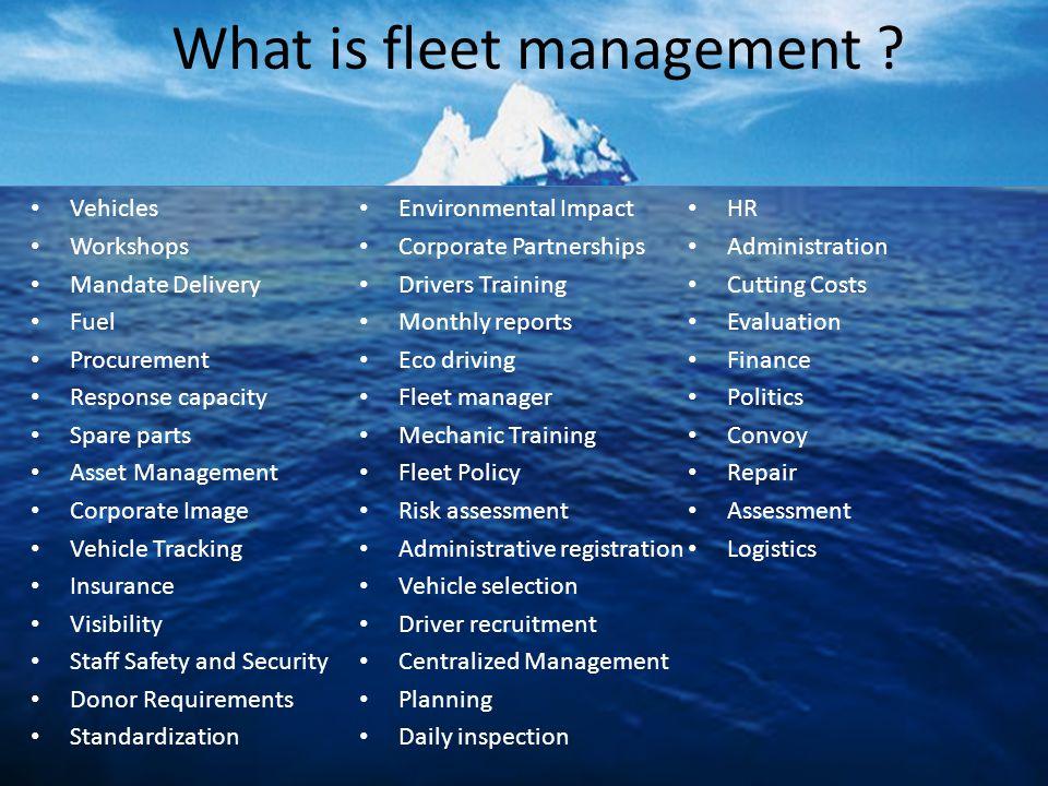 What is fleet management .