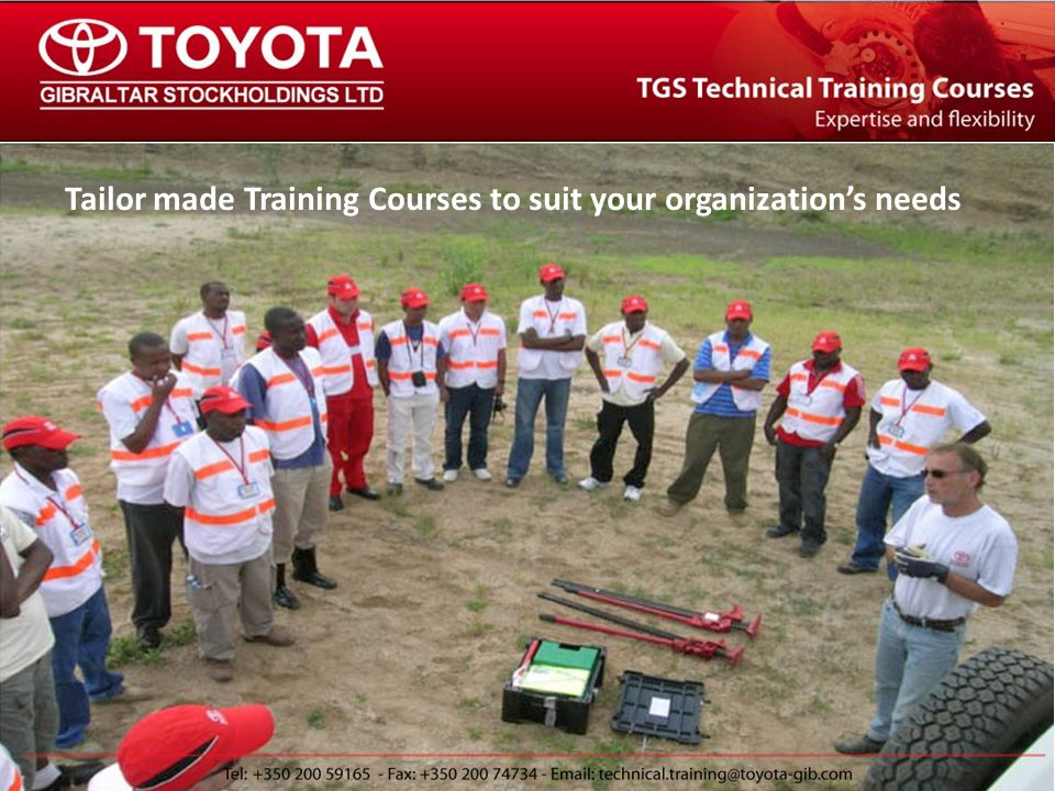The TGS Technical Training Team TGS Training Department Operating Training Courses for 15+ Years 75+ Courses in the last 5 Years Over 20 Countries including: Kenya (2 events) Haiti Nigeria Honduras Tanzania Burkina Faso Lyon, France Guinea