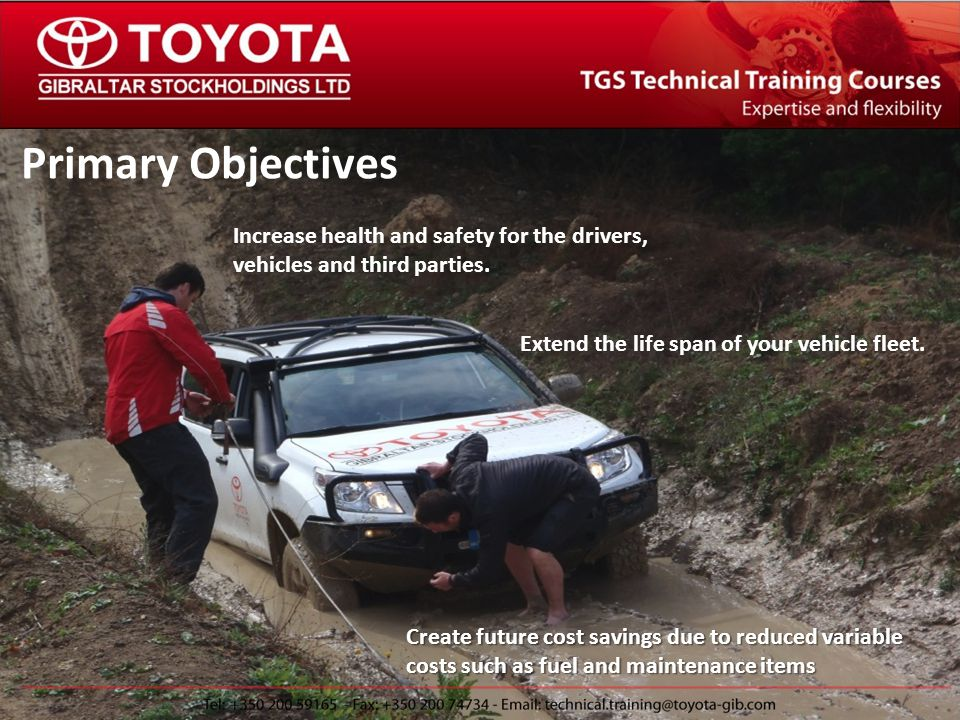 The TGS Technical Training Team Who and where can we train.