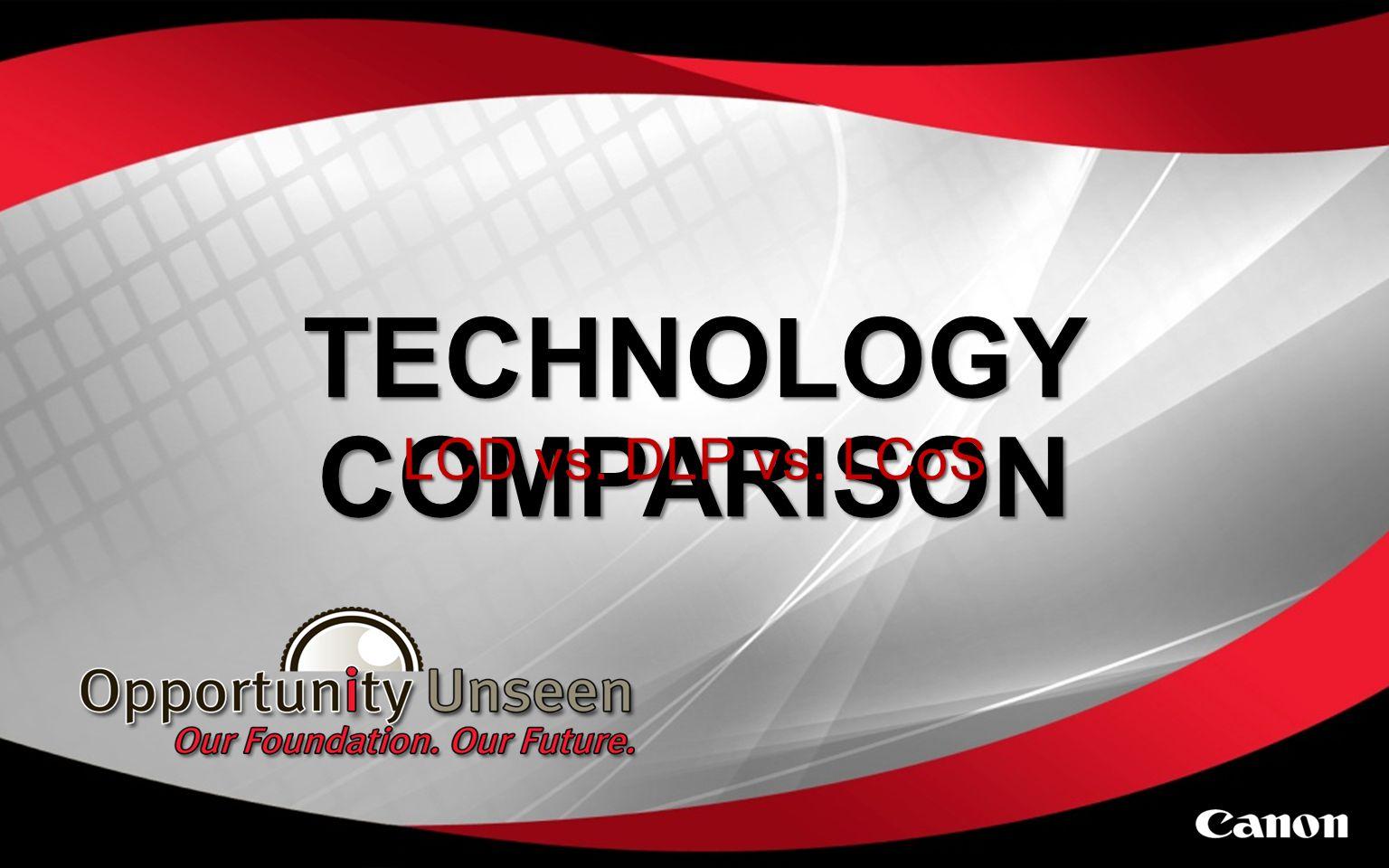 TECHNOLOGY COMPARISON LCD vs. DLP vs. LCoS