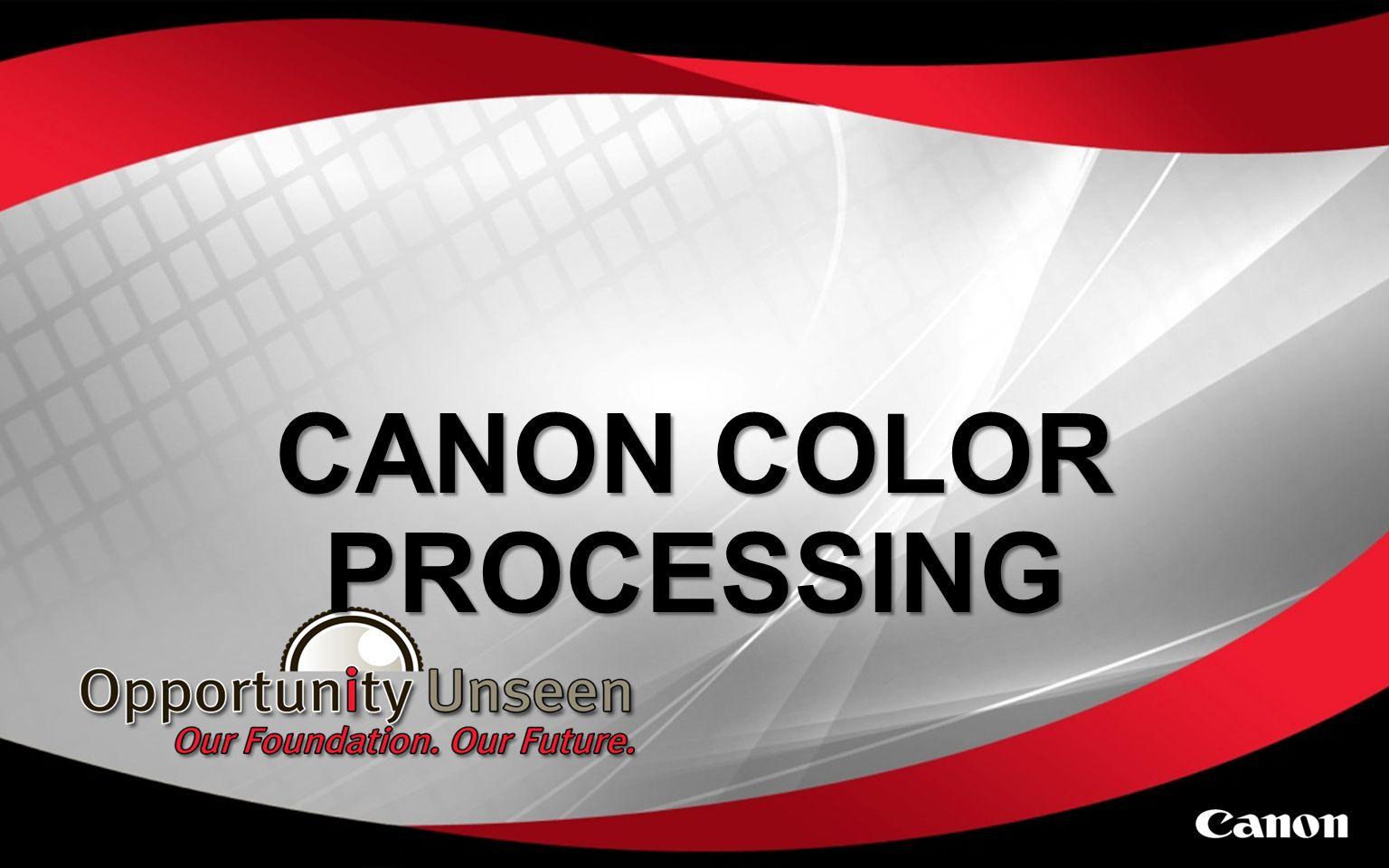 CANON COLOR PROCESSING