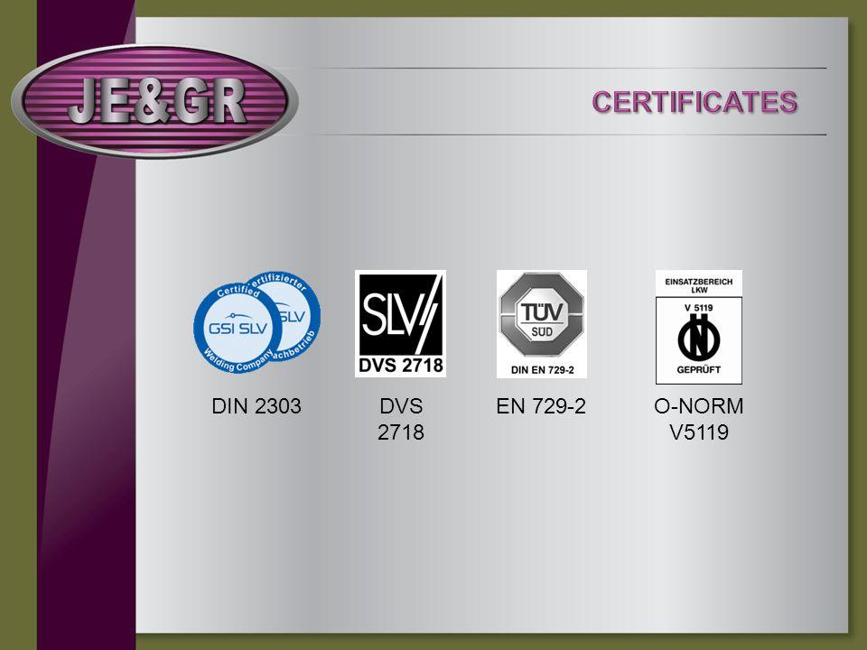 DVS 2718 DIN 2303EN 729-2O-NORM V5119