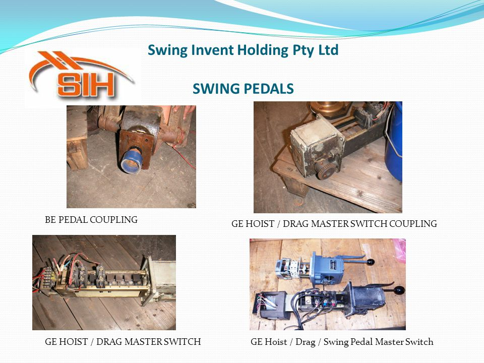 Swing Invent Holding Pty Ltd SWING PEDALS BE PEDAL COUPLING GE HOIST / DRAG MASTER SWITCH COUPLING GE HOIST / DRAG MASTER SWITCHGE Hoist / Drag / Swin