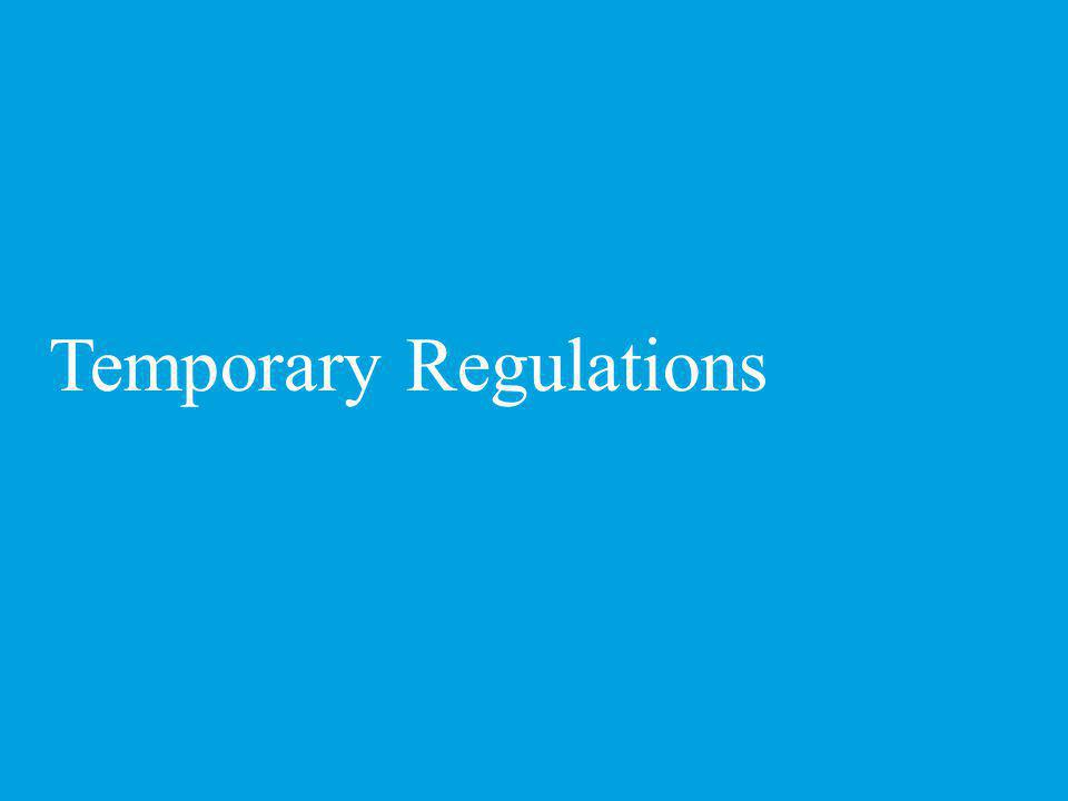 Temporary Regulations