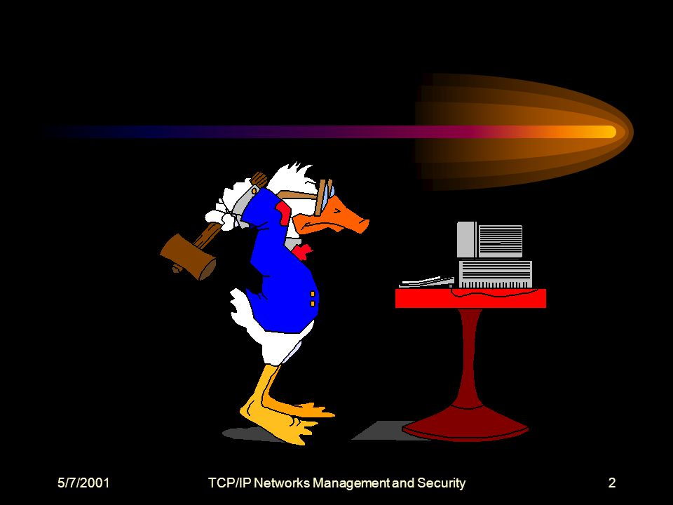 5/7/2001TCP/IP Networks Management and Security3 Course Objectives: What is a TCP/IP Network.