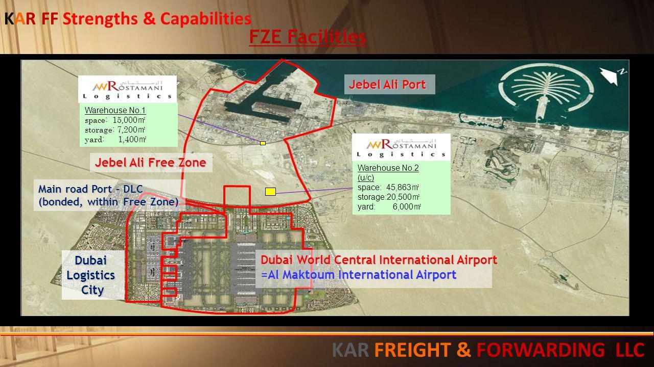 FZE Facilities KAR FF Strengths & Capabilities KAR FREIGHT & FORWARDING LLC 11111111111111111111111111111111111111111111111111111111111111111111111111