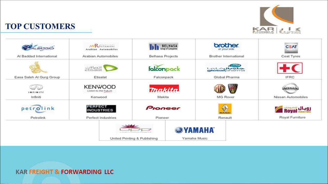 TOP CUSTOMERS KAR FREIGHT & FORWARDING LLC