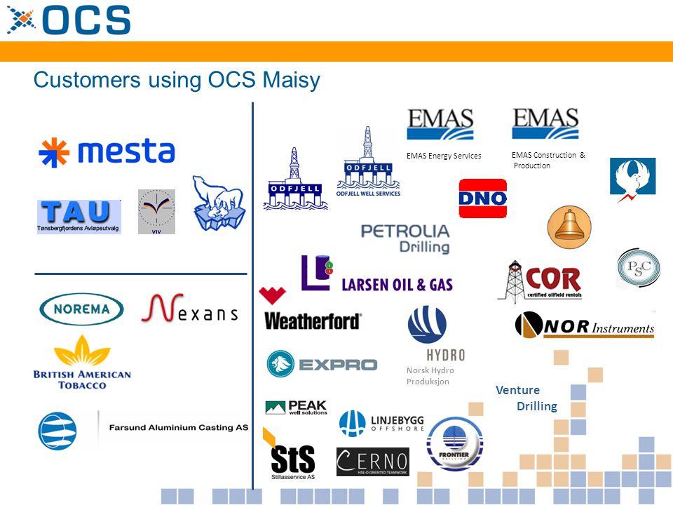 Customers using OCS PreMaster