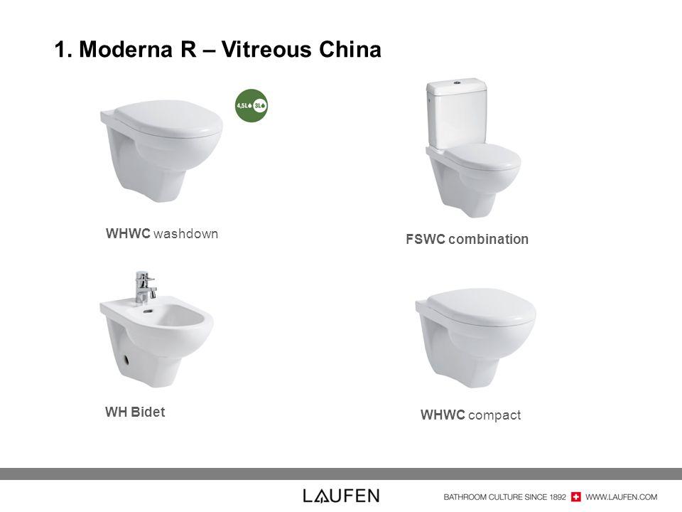 1. Moderna R – Vitreous China WHWC washdown WH Bidet FSWC combination WHWC compact