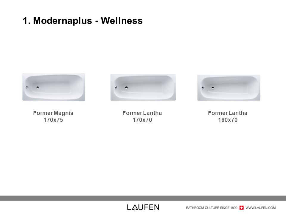 1. Modernaplus - Wellness Former Magnis 170x75 Former Lantha 170x70 Former Lantha 160x70