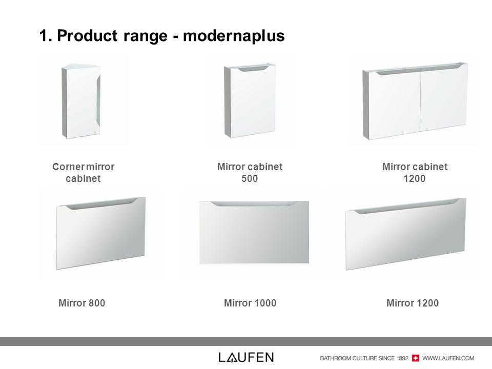 1. Product range - modernaplus Corner mirror cabinet Mirror cabinet 500 Mirror cabinet 1200 Mirror 800Mirror 1000 Mirror 1200