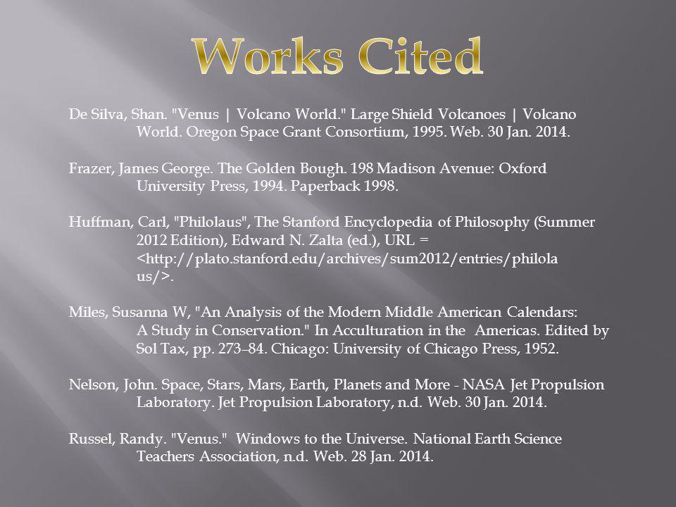 De Silva, Shan. Venus | Volcano World. Large Shield Volcanoes | Volcano World.