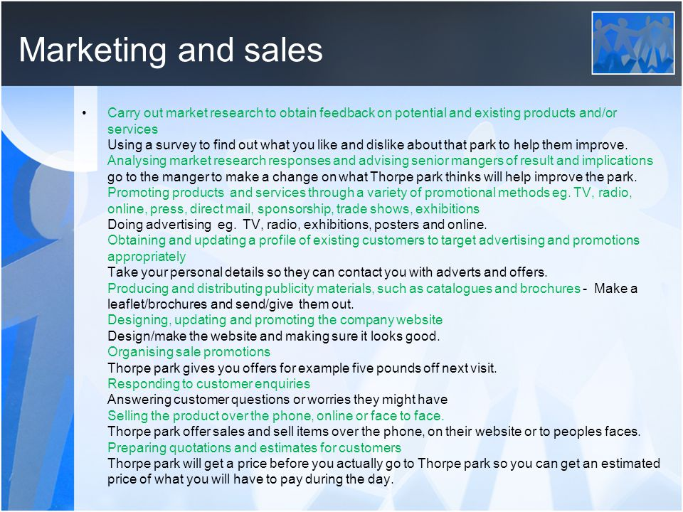 Marketing- the 4ps Product: To help recognition – If a customer recognises a brand they will trust and buy that product eg.