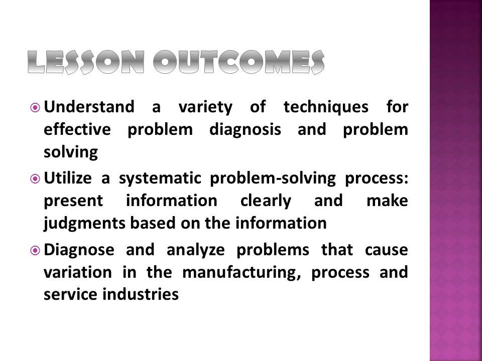 Problem Solving Process Quality Tools 1.Process Flow Diagram 2.