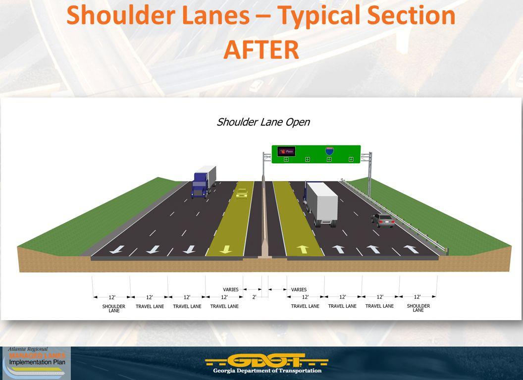 Shoulder Lanes – Typical Section AFTER
