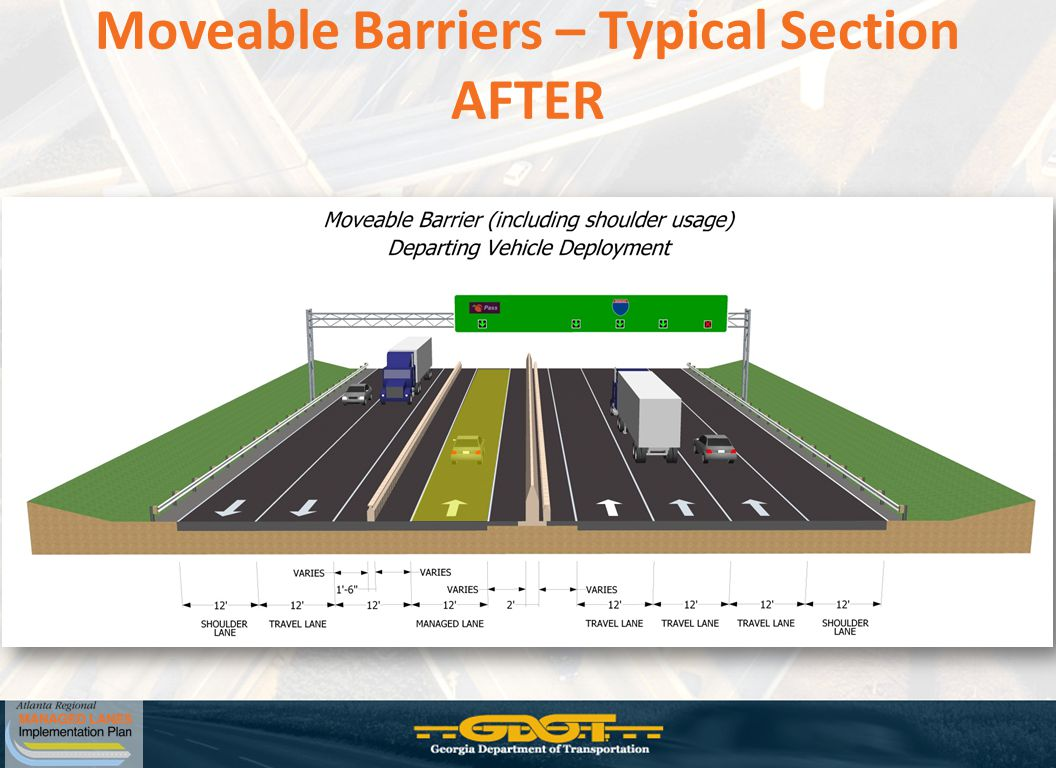 Moveable Barriers – Typical Section AFTER