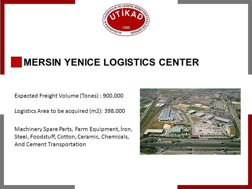 SERHAT LOGISTICS CANYON PROJECT Gateway of Turkey to the Caucasus, Middle East and Central Asia Serhat Development Agency Components of Projects: Kars-Tbilisi-Baku Railway project, Kars-Igdır- Nakhchivan Railway Project, Kars Logistics Center Turkey & Iran Organized Industrial Zone