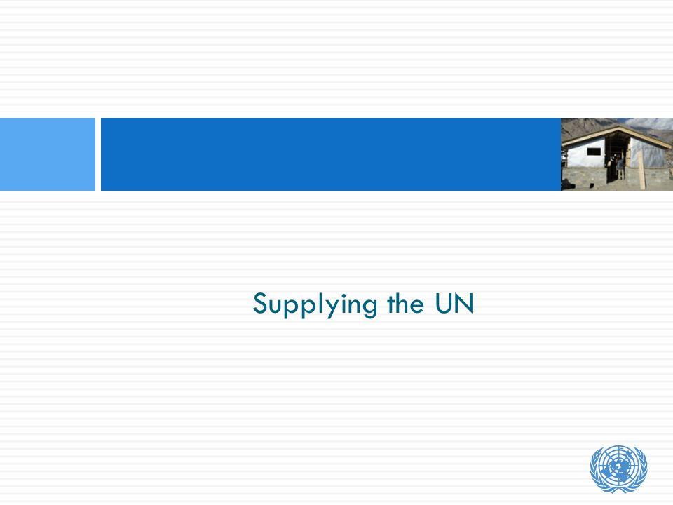 Supplying the UN