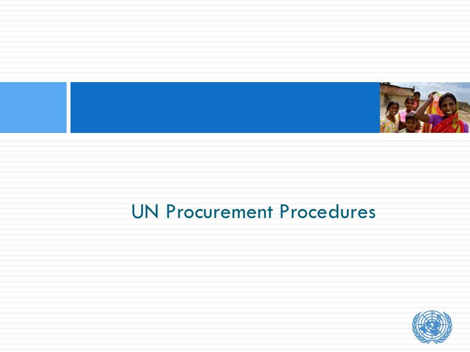 UN Procurement Procedures