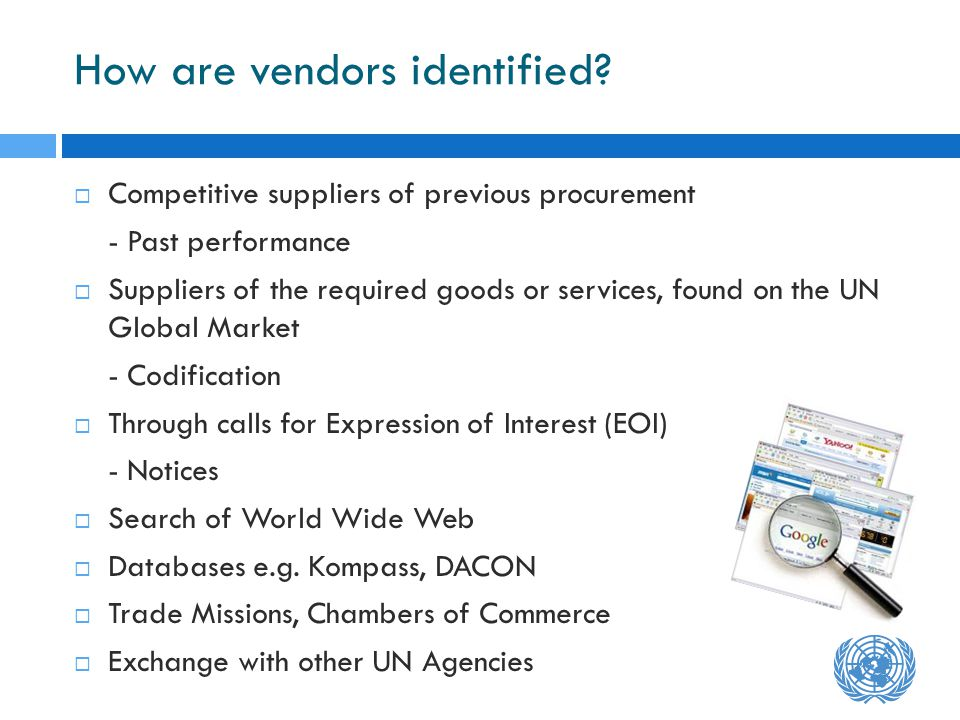 How are vendors identified.