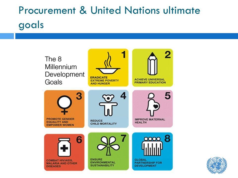 Procurement & United Nations ultimate goals