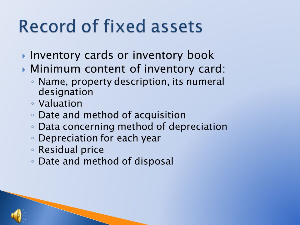 Property becomes fixed assets at the time of commissioning.