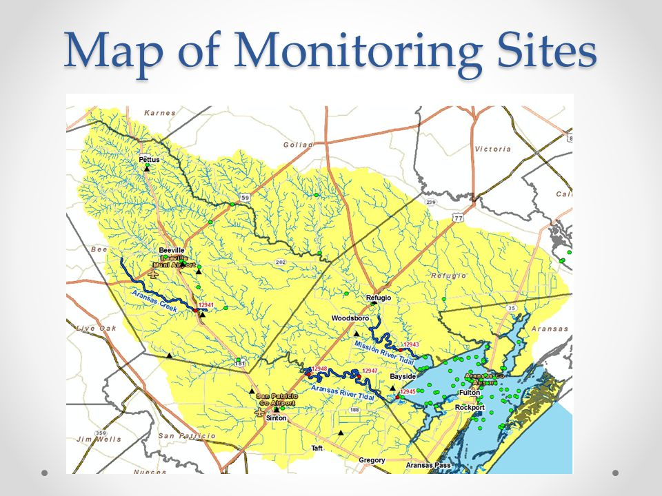 Map of Monitoring Sites