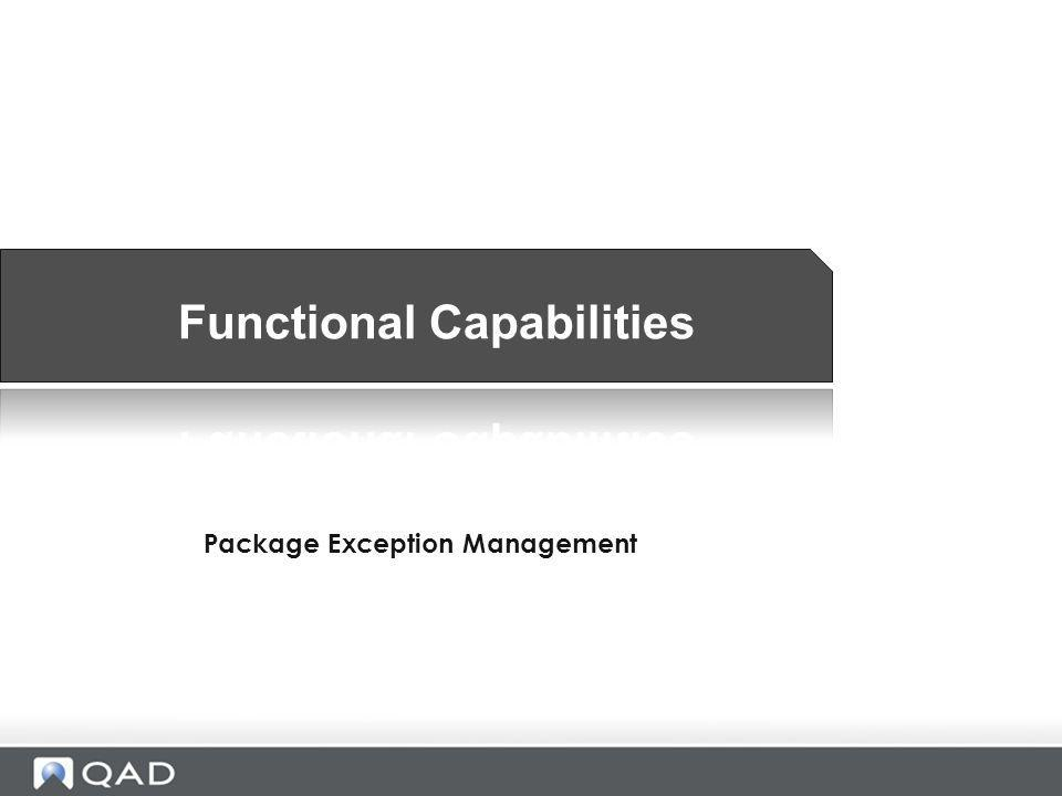 Package Exception Management