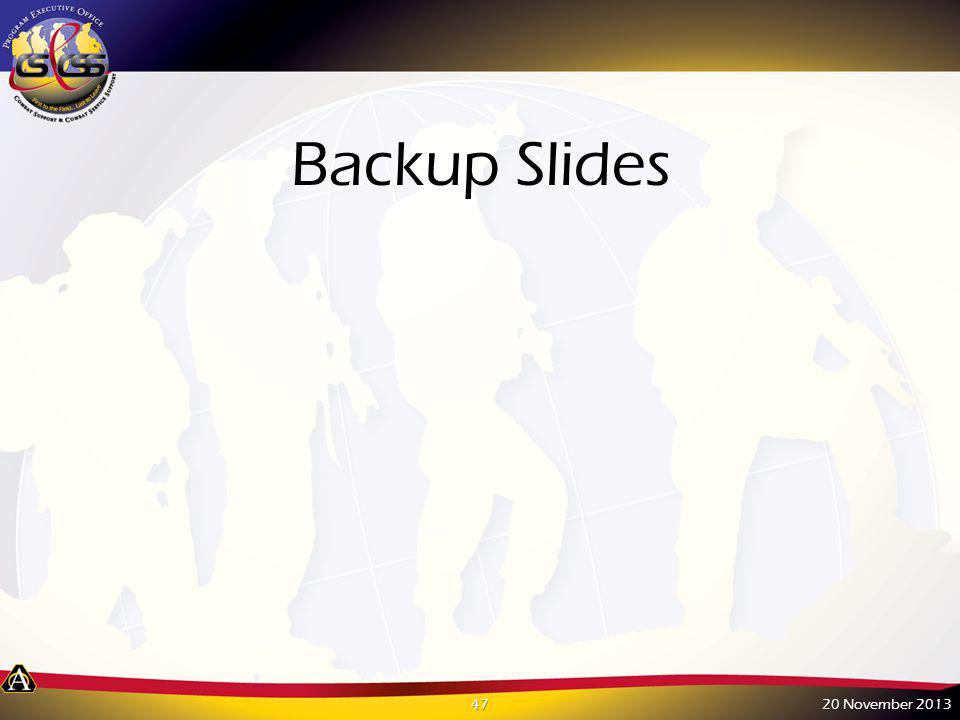 Backup Slides 20 November 201347