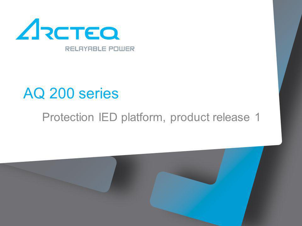 AQ 200 series Protection IED platform, product release 1