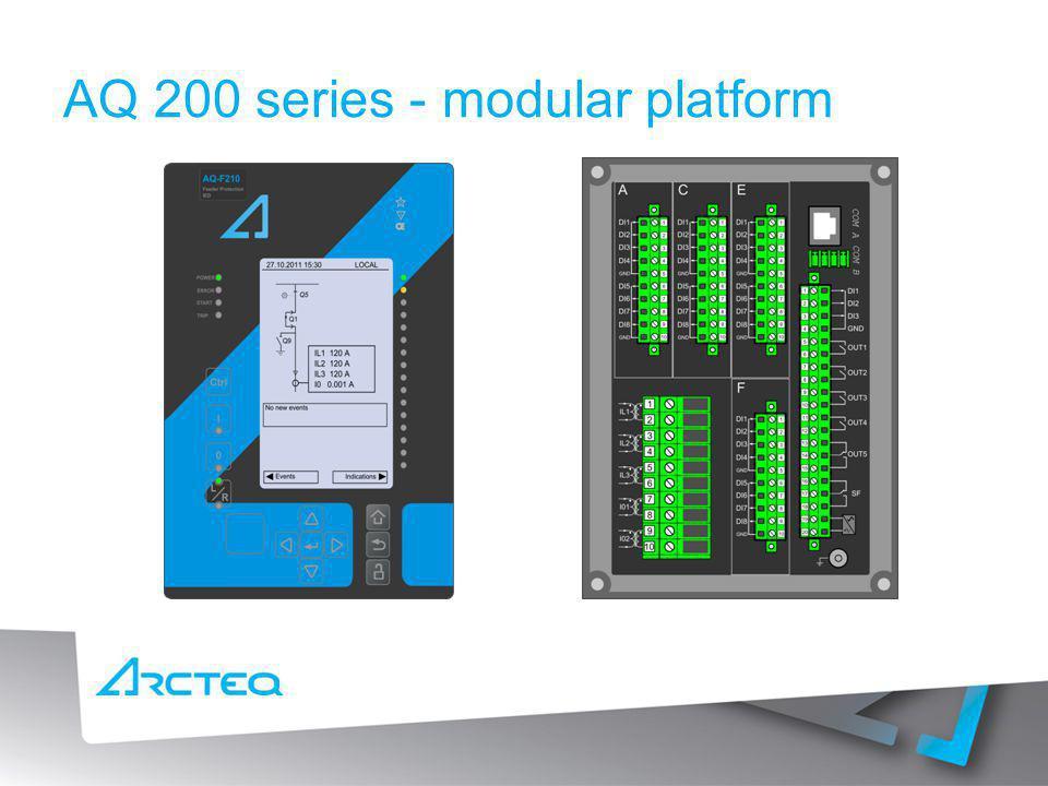 AQ 200 series - modular platform