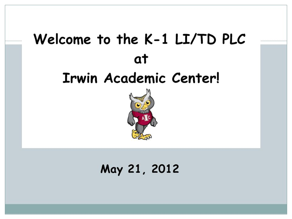 May 21, 2012