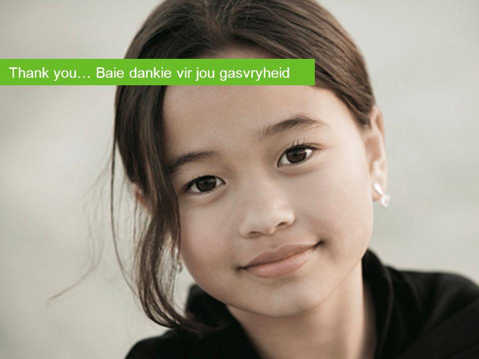 © 2006 47 Thank you… Baie dankie vir jou gasvryheid