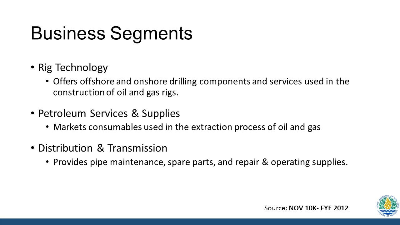 Business Segments Rig Technology Offers offshore and onshore drilling components and services used in the construction of oil and gas rigs. Petroleum