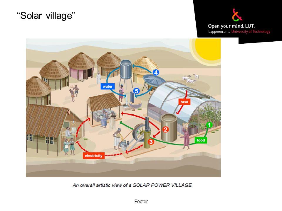 Solar village Footer