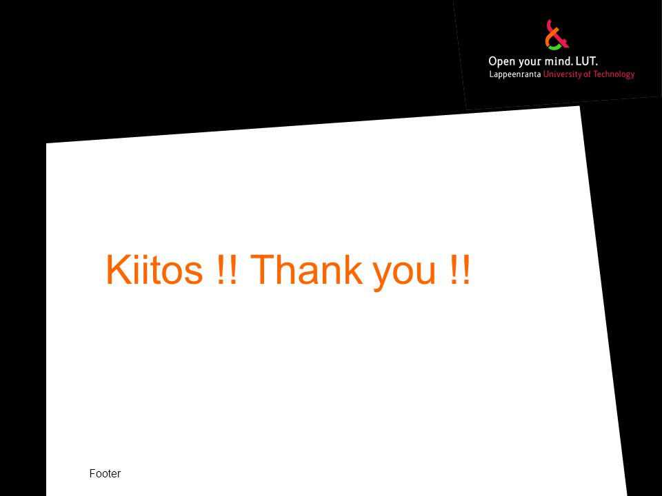 Kiitos !! Thank you !! Footer