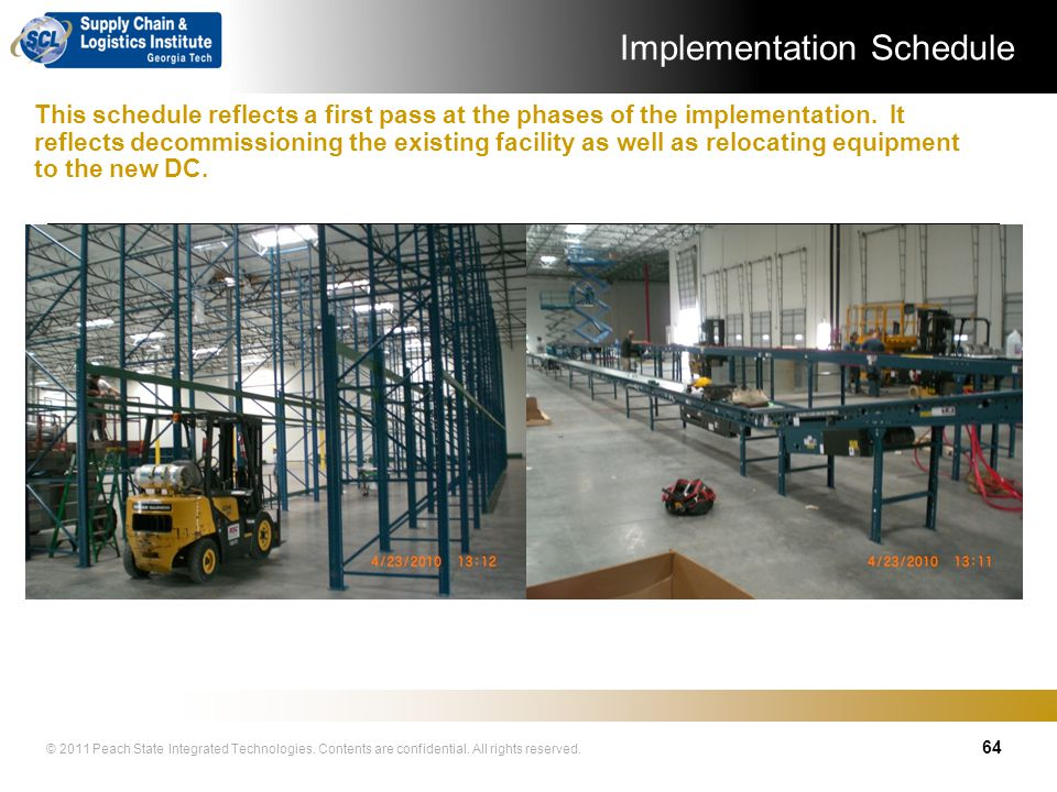 © 2011 Peach State Integrated Technologies. Contents are confidential. All rights reserved. Project Implementation 63