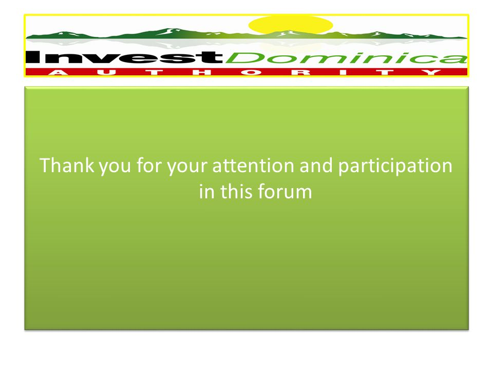 Thank you for your attention and participation in this forum